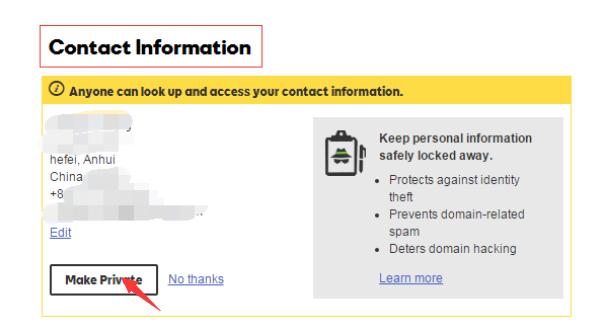 """看到自己的域名注册信息。点击""""Edit"""""""