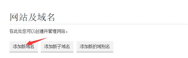 """进入Windows主机的Plesk控制面板,点击""""添加新域名"""""""