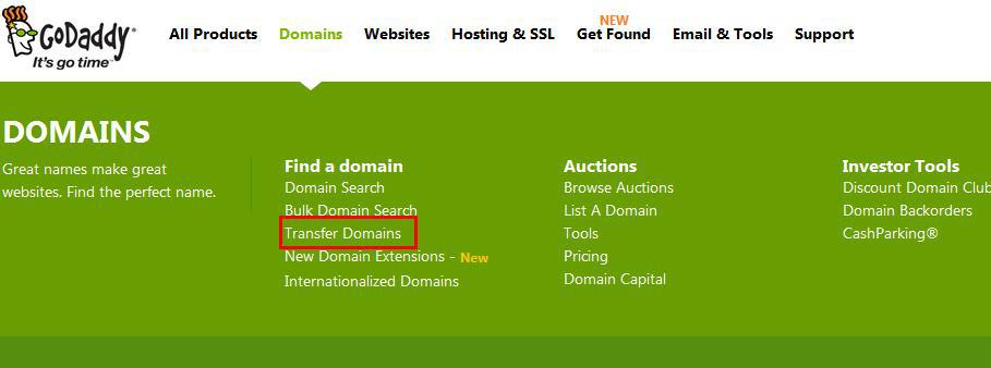 最新GoDaddy域名转入教程